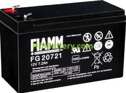 Batería de Plomo AGM 12 Voltios 7.2 Amperios FG20721 FIAMM