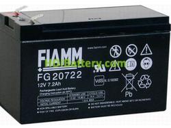 Batería de Plomo AGM 12 Voltios 7.2 Amperios FG20722 FIAMM