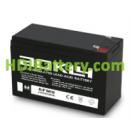 Batería de plomo AGM 12 Voltios 7.5 Amperios AOKLY POWER 6FM7.5 (152X65X95mm)