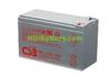 Batería de plomo agm 12 voltios 9 amperios CSB HRL1234 F2FR 151x65x95mm