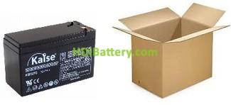 Batería de plomo AGM 12V 7AH KAISE KB1270S (151x65x94mm) Caja 5 unidades