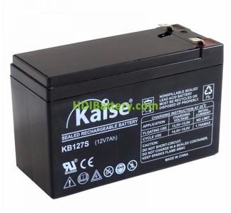 Batería de plomo AGM 12V 7AH KAISE KB1270S (151x65x94mm)