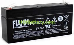 Batería de Plomo AGM 6 Voltios 3 Amperios FG10301 FIAMM