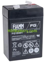 Batería de Plomo AGM 6 Voltios 4.5 Amperios FG10451 FIAMM
