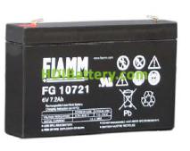 Batería de Plomo AGM 6 Voltios 7.2 Amperios FG10721 FIAMM