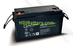 Batería de plomo AGM cíclica 12v 128Ah 12LC-130 Q-Batteries