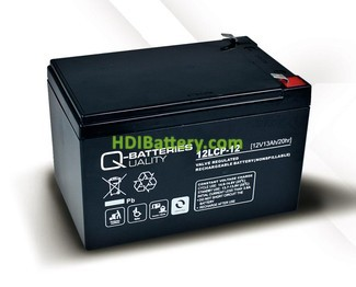 Batería de plomo AGM cíclica 12v 13Ah 12LCP-12 Q-Batteries