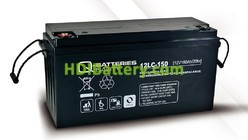 Batería de plomo AGM cíclica 12v 160Ah 12LC-150 Q-Batteries