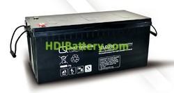 Batería de plomo AGM cíclica 12v 214Ah 12LC-200 Q-Batteries