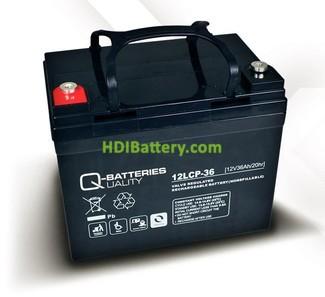 Batería de plomo AGM cíclica 12v 36Ah 12LCP-36 Q-Batteries