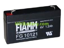 Batería de Plomo AGM 6 Voltios 1.2 Amperios FG10121 FIAMM