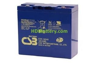 Bateria de Plomo EVH12240 CSB 12 Voltios 24 Amperios