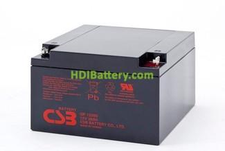 Bateria de Plomo GP12260 CSB 12 Voltios 26 Amperios
