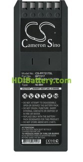 Batería de reemplazo BP7217 para Scopemeter Fluke 7,2V-2200mAh NI-MH