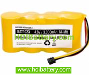 Batería de reemplazo para Scopemeter 124 4.8v 3000mah