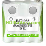 Batería de reemplazo para Walkie Uniden BP38