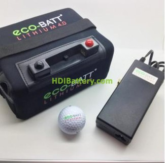 Bateria Eco-Batt Lithium para carro de golf 12V 16AH + kit de carga. Equivalente a 26-30 Ah de acido o gel