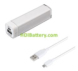 Batería externa para dispositivos móviles 5V 2600mAh