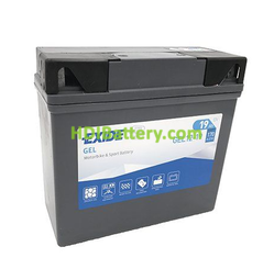 Bateria para moto G-19 EXIDE GEL 12 Voltios -19 Amperios 185X80X170 mm