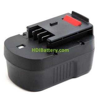 Batería herramienta inalámbrica 14.4V 1.5Ah Black & Decker A1714 Nicd