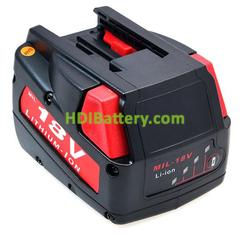Batería herramienta inalámbrica 18V 2Ah Milwaukee 18 V 0824-24, V18, V18B Lithium-Ion