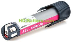 Batería herramienta inalámbrica 3.6V 1.5Ah Bosch 2607335062,2607335033 NiMh
