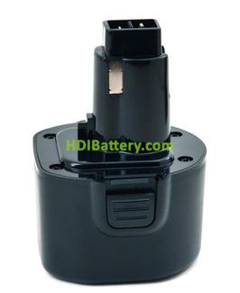 Batería herramienta inalámbrica 9.6V 1.5Ah Dewalt DE9036, DE9061, DE9062, DW050, DW050K NiMh