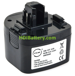Batería herramienta inalámbrica 9.6V 3Ah Max Rebar RB215, RB315, RB392, RB395, RB515 NiMH