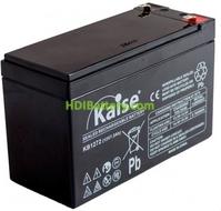 Batería Kaise AGM VRLA 12V 7,2Ah F2