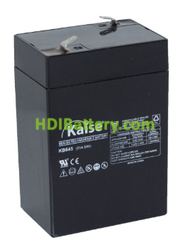 Batería Kaise AGM VRLA 6V 4,5Ah F1 KB645