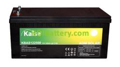 Batería Kaise Solar Long Life AGM 12V 250Ah M8 KBASL122500