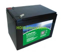 Batería LiFePO4 12.8 Voltios 12 Amperios PFS LDP 12-12 151x98x101 mm