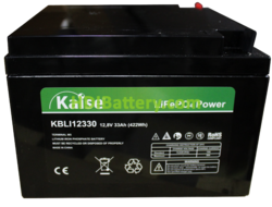 Batería LiFePO4 12.8 Voltios 33 Amperios Kaise KBLI12330 166x175x125 mm