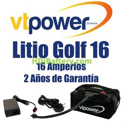 Batería LiFePO4 para carro de golf 12 Voltios 16 Amperios