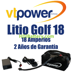 Batería LiFePO4 para carro de golf 12 Voltios 18 Amperios