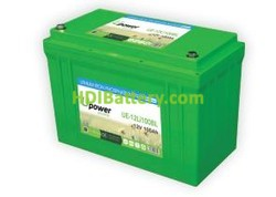 Batería litio Upower Ecoline 12V 100Ah UE-12Li100BL 327x171x234