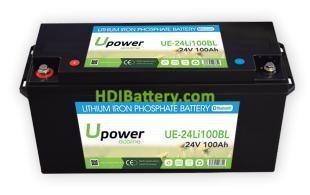 Batería litio Upower Ecoline 24V 100Ah UE-24Li100BL 483.5x170x241mm