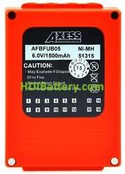 Batería mando de grua 6V 1500mAh HBC BA225000, HBC BA225030, ABFUB05