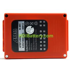 Batería mando de grua 6V 2200mAh HBC FUB05AA BA225030 810mm (L) x 560mm (An) x 240mm (Al)