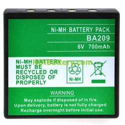 Batería mando de grua 6V 700mAh HBC FUB9NM, HBC BA209001, BA209060