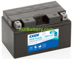 Batería para moto Exide AGM12-8 12V 8.6AH