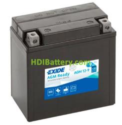 Bateria moto Exide AGM12-9 12 Voltios 9 Amperios