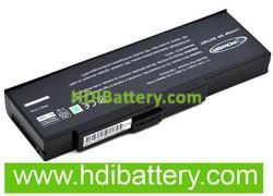 Batería ordenador portátil 11.1V 6600mAh Mitac MiNote 8207,8227,8807,9070D,9270D