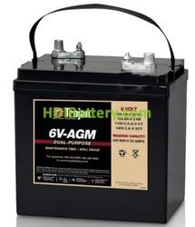 Batería para caravanas y autocaravanas 6V 200Ah Trojan 6V-AGM