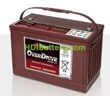 Batería para caravanas y autocaravanas 12V 102Ah Trojan OverDrive AGM 31