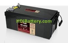 Batería para solar 12V 230Ah Trojan 8D-AGM