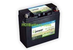 Batería para carros de golf 12V 22Ah Upower Ecoline UE-12Li22BL