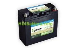Batería para sillas de ruedas 12V 22Ah Upower Ecoline UE-12Li22BL