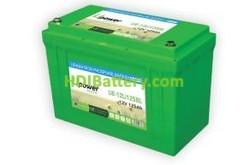 Batería para vehículo eléctrico 12V 125Ah Upower Ecoline UE-12Li125BL