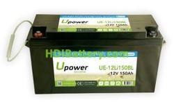 Batería para barco 12V 150Ah Upower Ecoline UE-12Li150BL